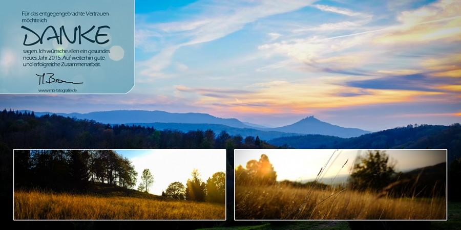 Dankeskarte Foto-Mediendesign, 2015, Happy new year, Danke